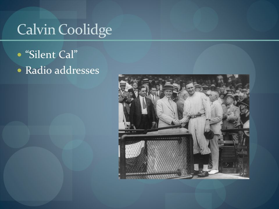 Calvin Coolidge Silent Cal Radio addresses