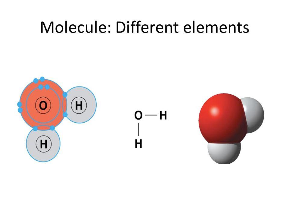 Molecule: Different elements