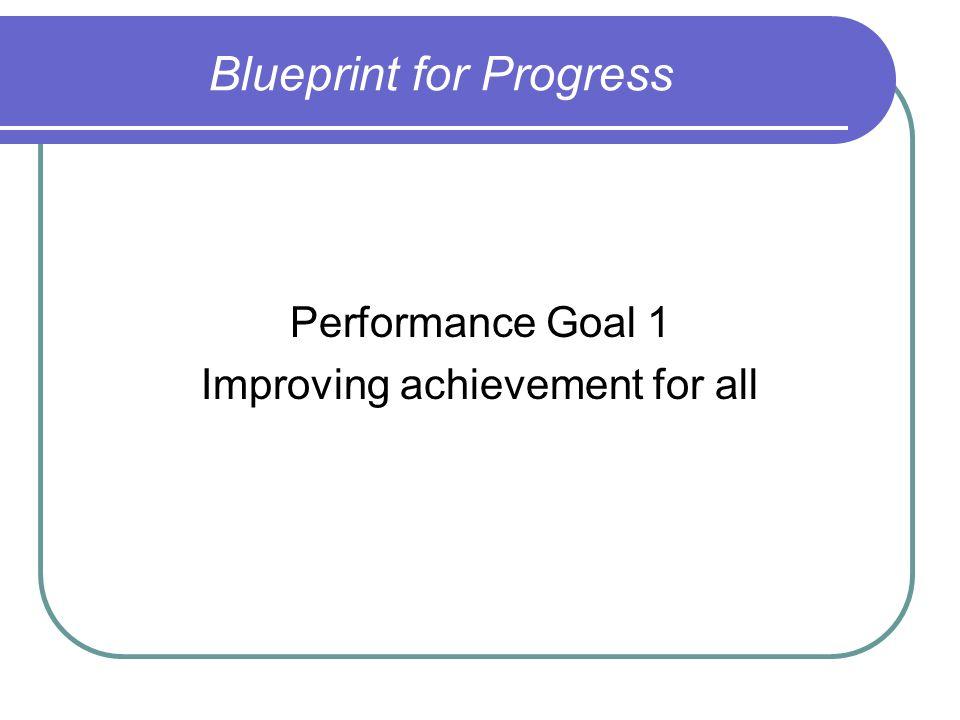Blueprint for Progress Performance Goal 1 Improving achievement for all