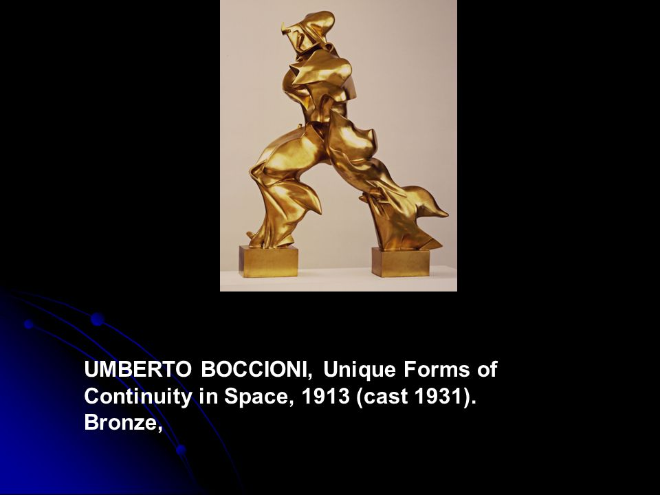 UMBERTO BOCCIONI, Unique Forms of Continuity in Space, 1913 (cast 1931). Bronze,