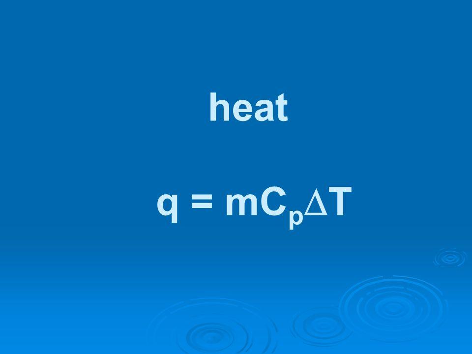 heat q = mC p T