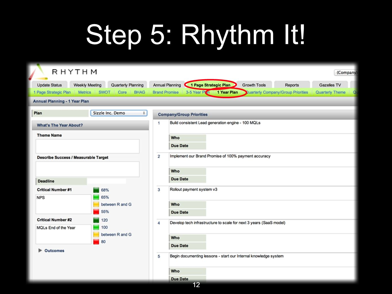 12 Step 5: Rhythm It!