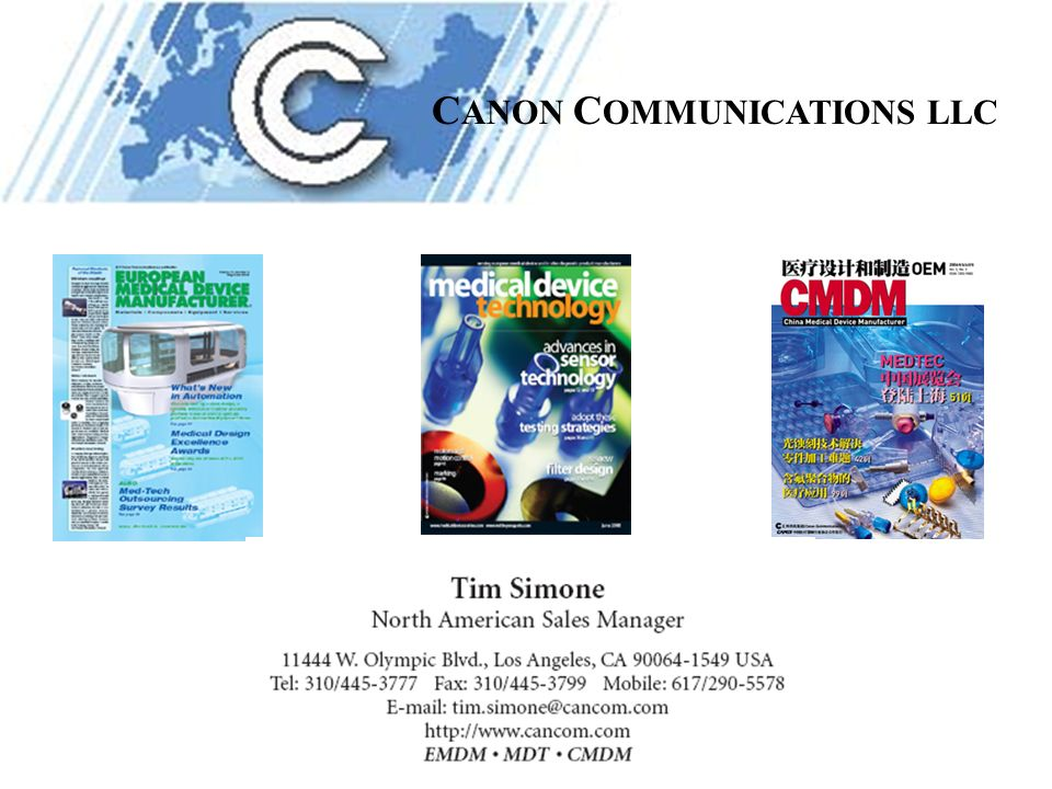C ANON C OMMUNICATIONS LLC