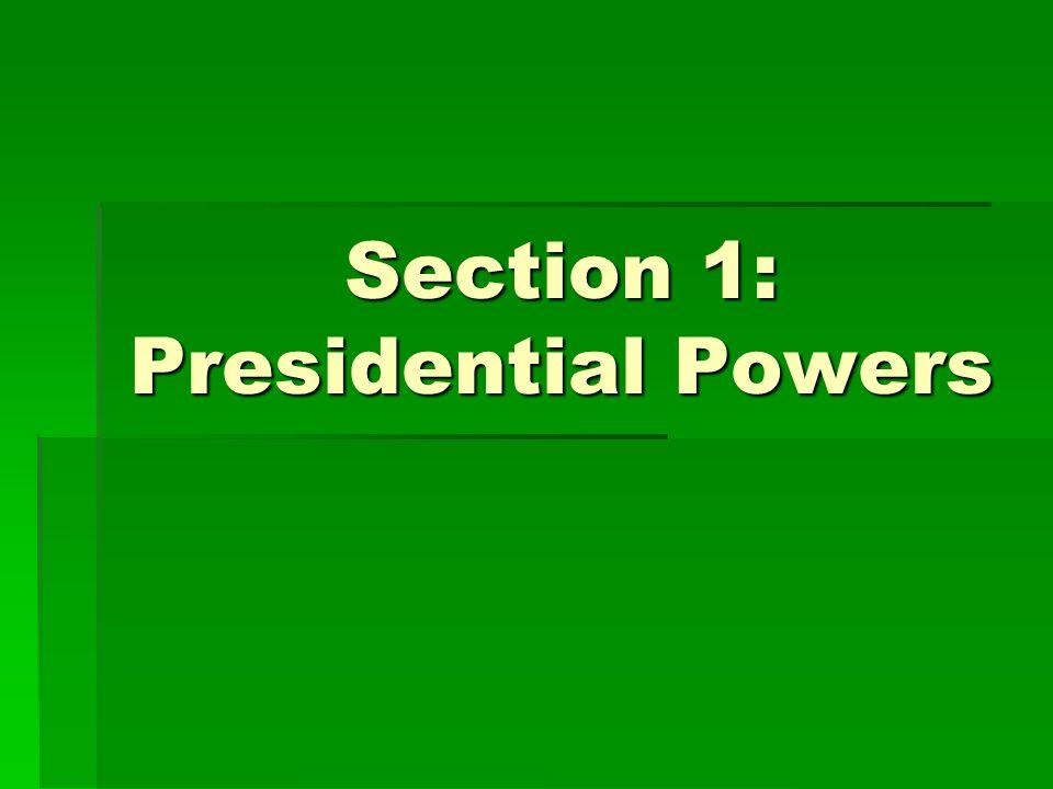 Chapter 8 Presidential Leadership