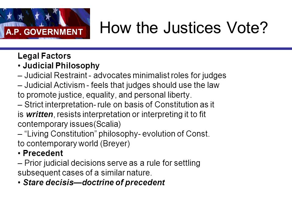 How the Justices Vote.