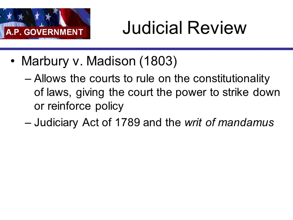 Judicial Review Marbury v.