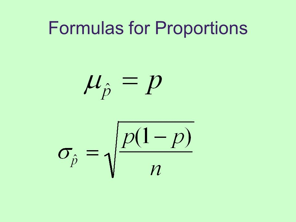 Formulas for Proportions
