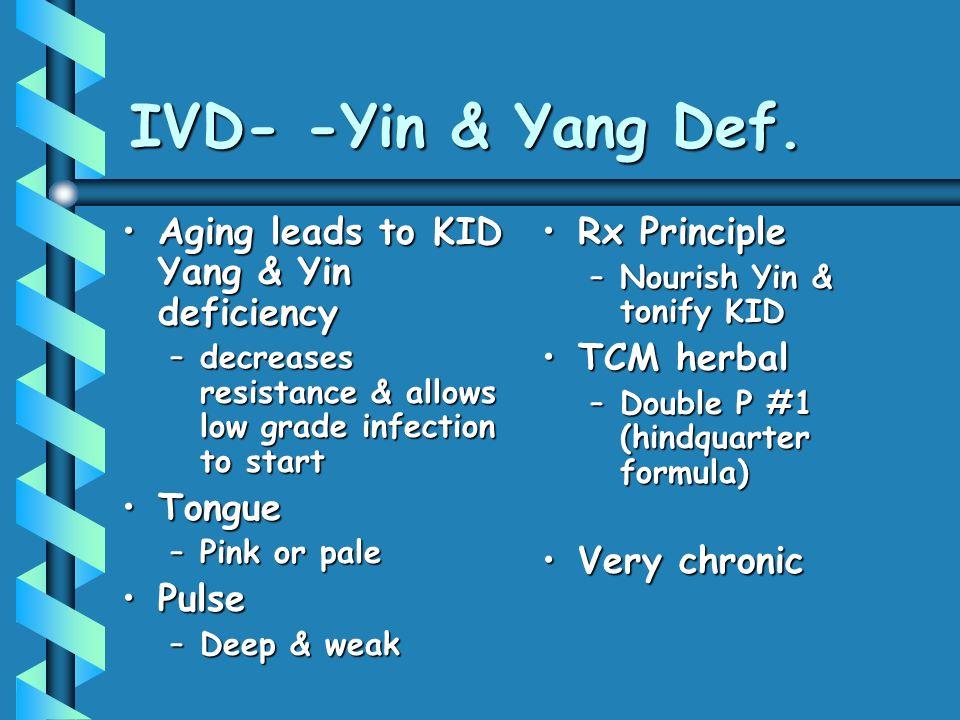 IVD- -Yin & Yang Def.