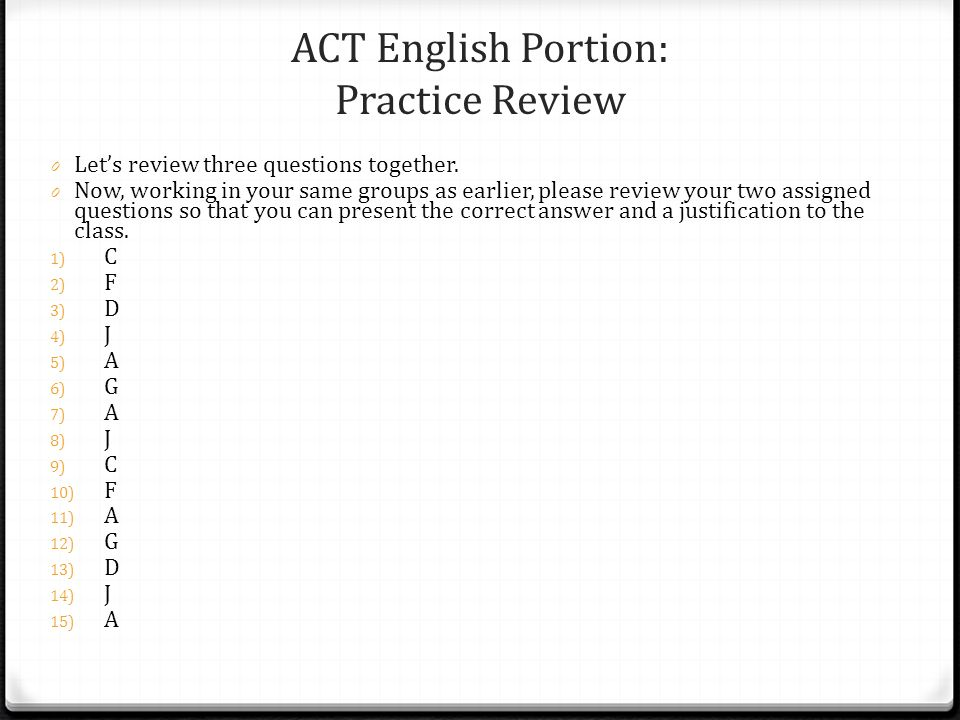 Use TCA to prepare for the ACT.
