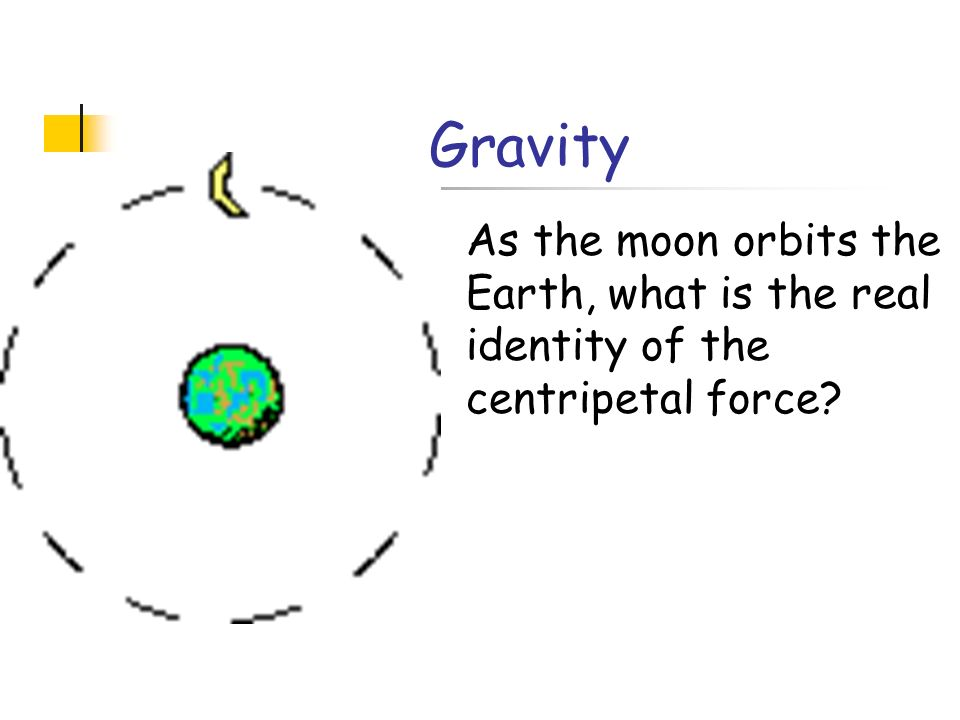 Gravity As the moon orbits the Earth, what is the real identity of the centripetal force?