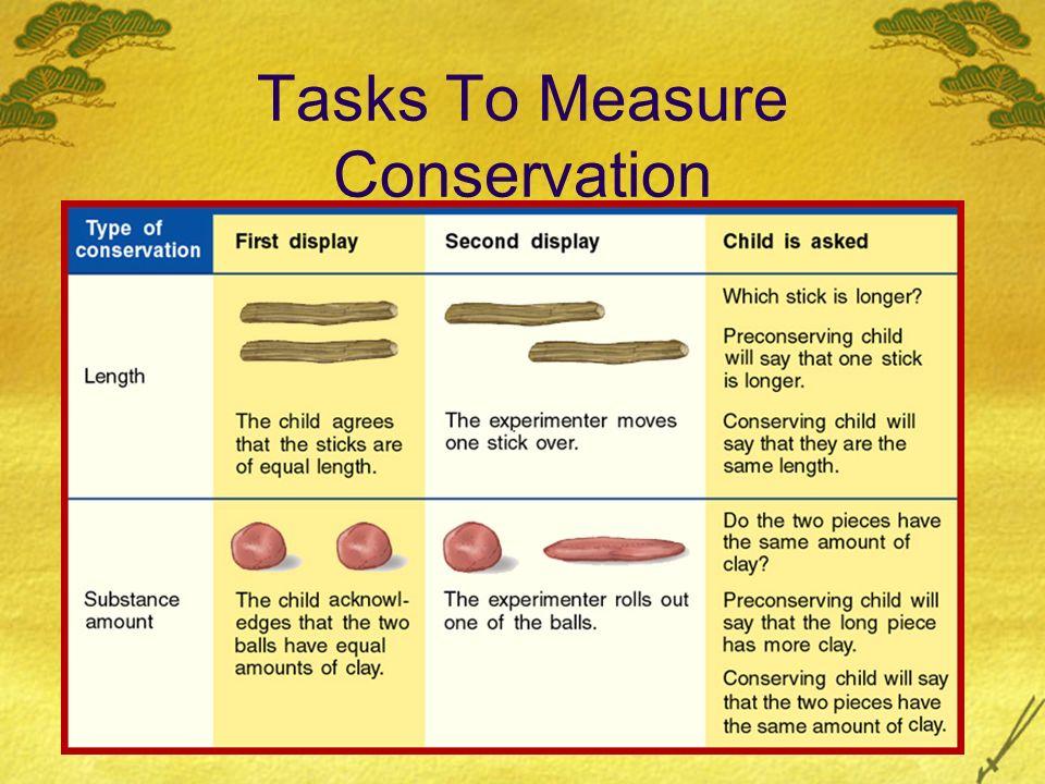 Tasks To Measure Conservation