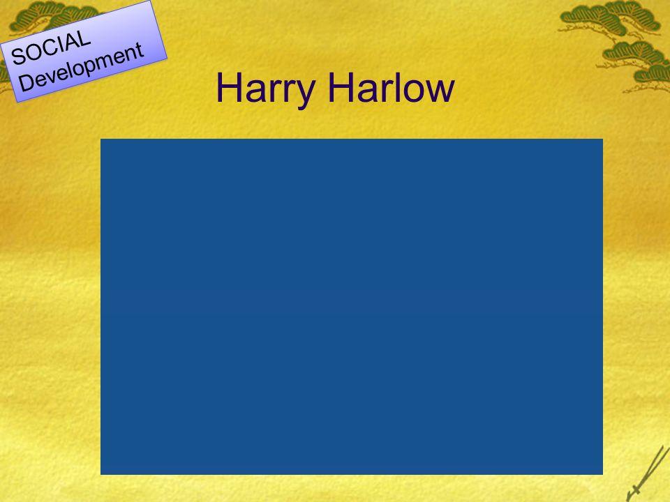 Harry Harlow SOCIAL Development SOCIAL Development