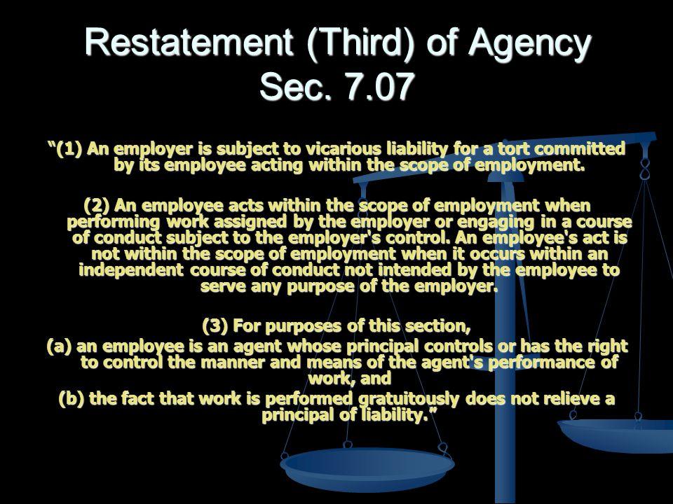 Restatement (Third) of Agency Sec.