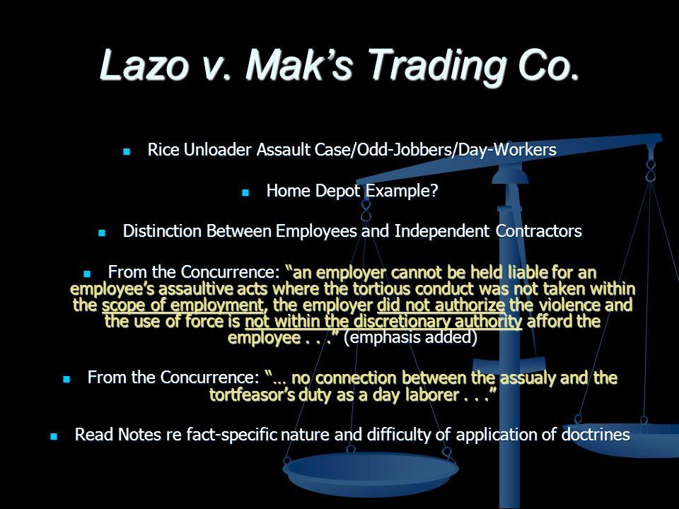 Lazo v. Maks Trading Co.