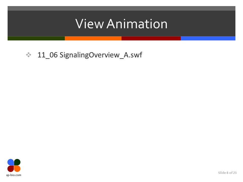 Slide 8 of 23 View Animation 11_06 SignalingOverview_A.swf