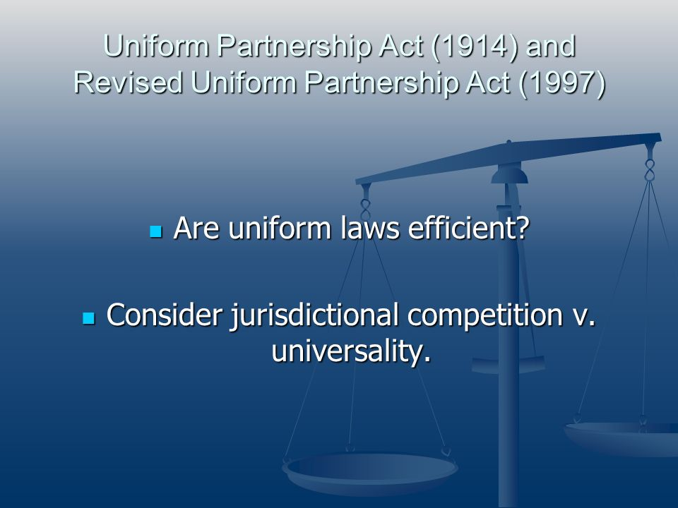 Defining Partnership From the class text: From the class text: The definition of a partnership is now statutory in all states.