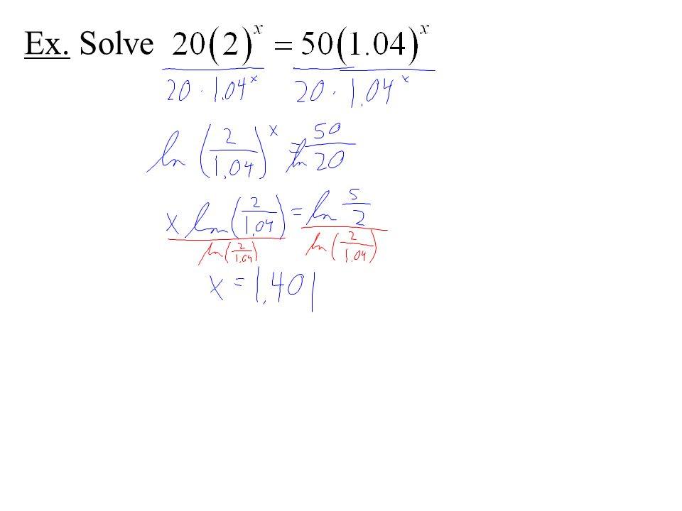 Ex. Solve
