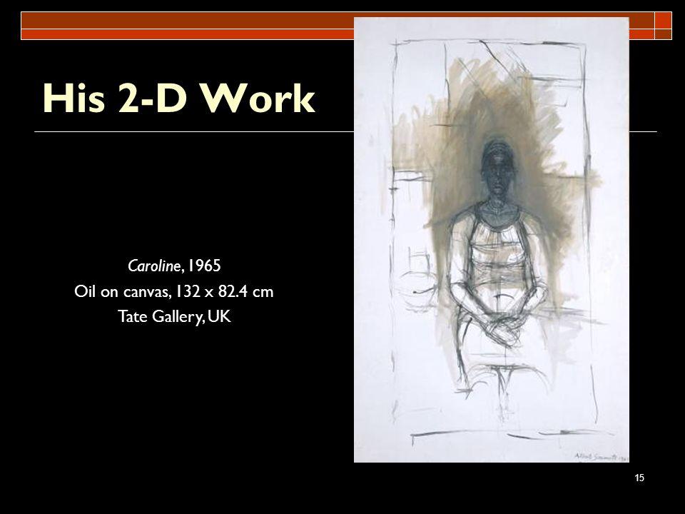 15 His 2-D Work Caroline, 1965 Oil on canvas, 132 x 82.4 cm Tate Gallery, UK