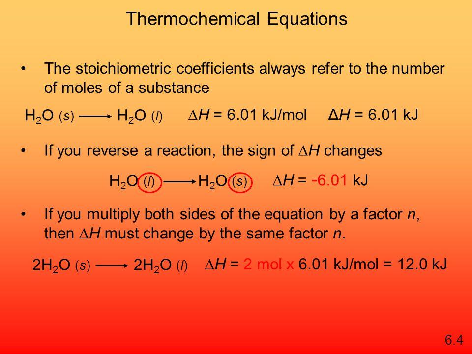 Recap: Signs of Thermodynamic Values NegativePositive Enthalpy (ΔH)ExothermicEndothermic Entropy (ΔS)Less disorderMore disorder Gibbs Free Energy (ΔG) SpontaneousNot spontaneous