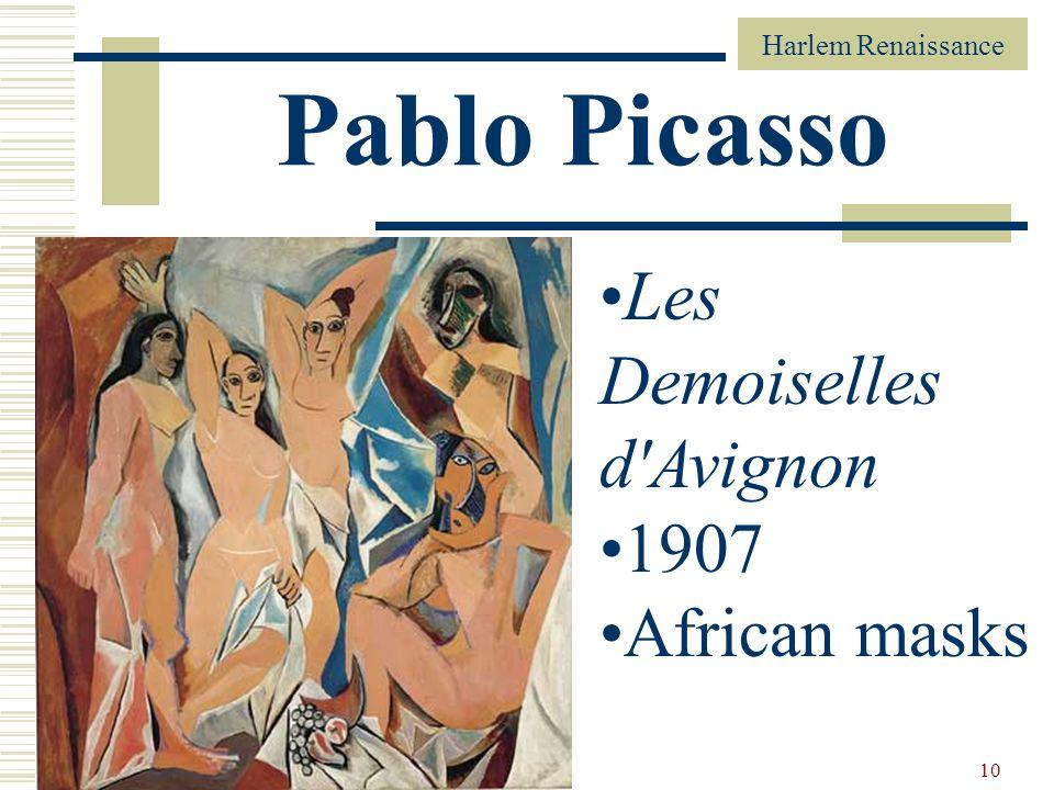 10 Pablo Picasso Les Demoiselles d'Avignon 1907 African masks