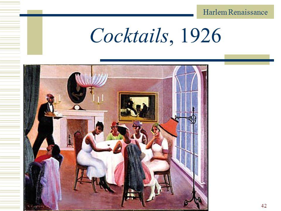 Harlem Renaissance 42 Cocktails, 1926