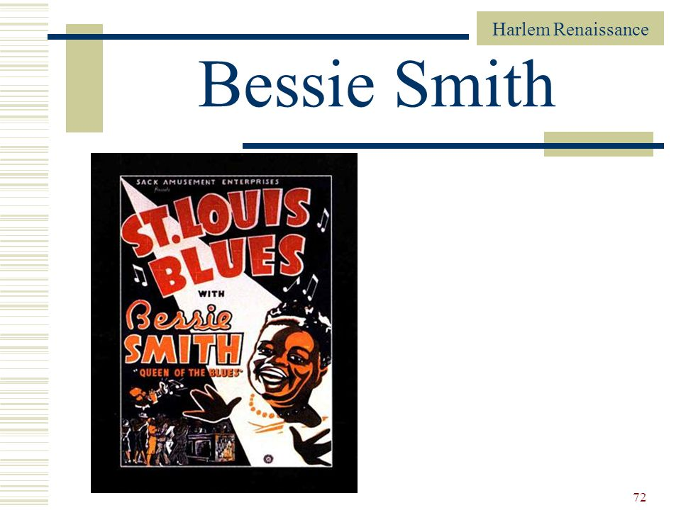 Harlem Renaissance 72 Bessie Smith