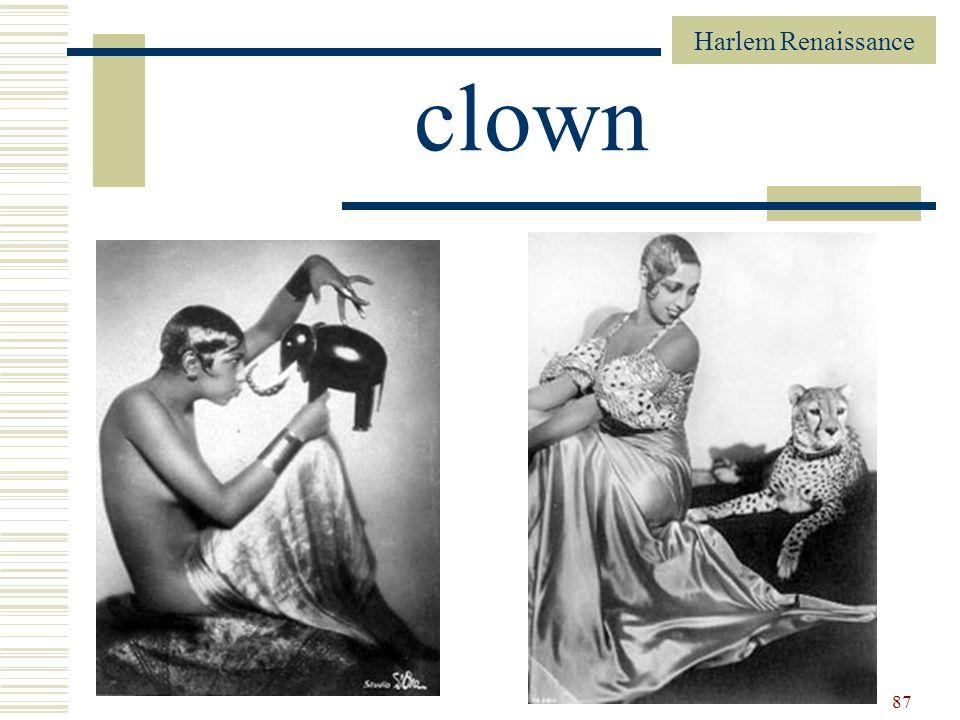 Harlem Renaissance 87 clown
