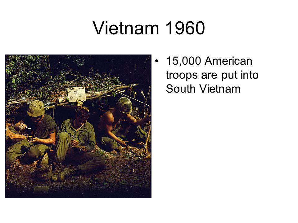 Vietnam-1954 Very Similar to Korea. North Vietnam –Communist (USSR) South Vietnam-non Communist(USA)