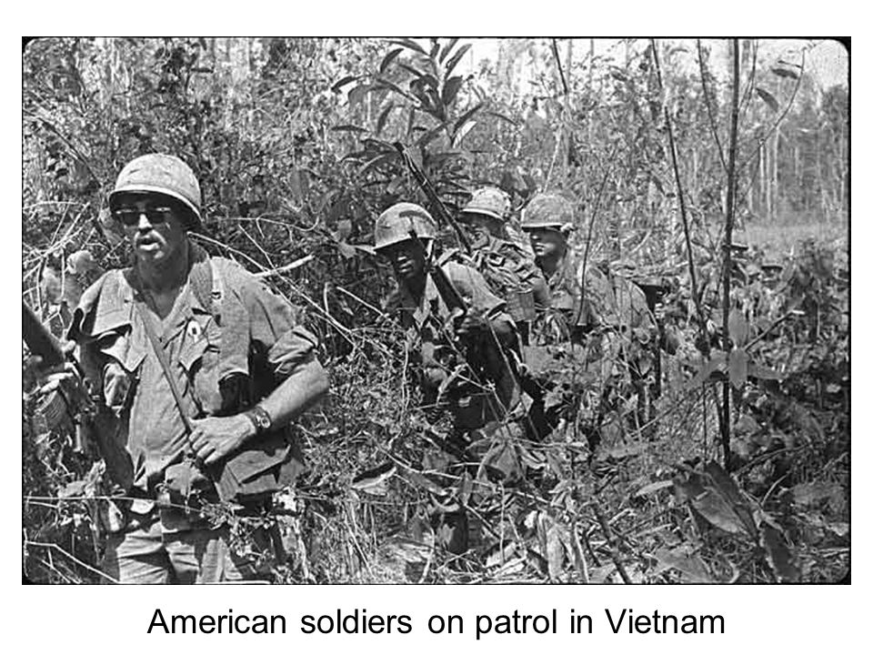 American soldiers on a search and destroy mission, 1967