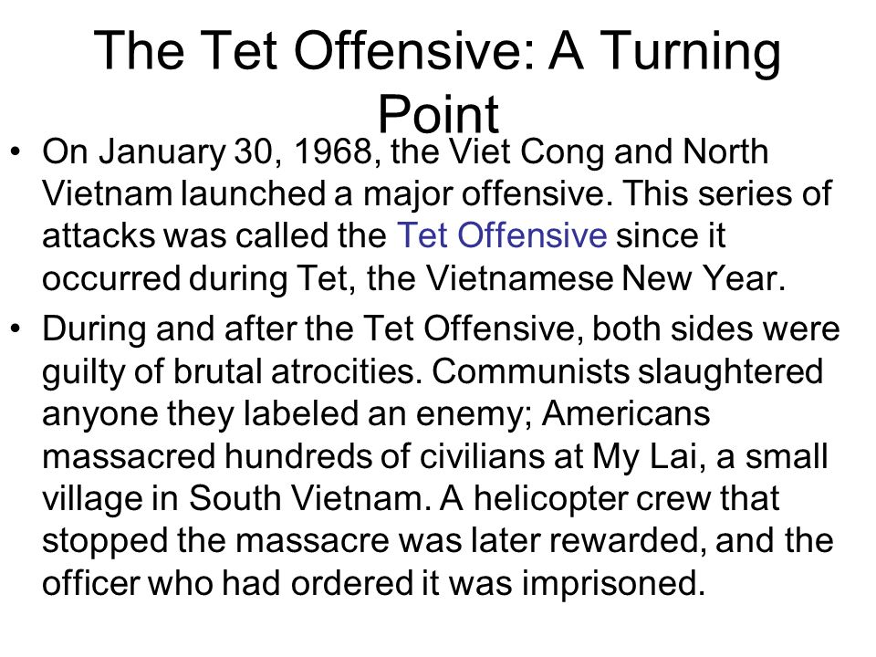 The Tet Offensive US troops defending the American Embassy in Saigon
