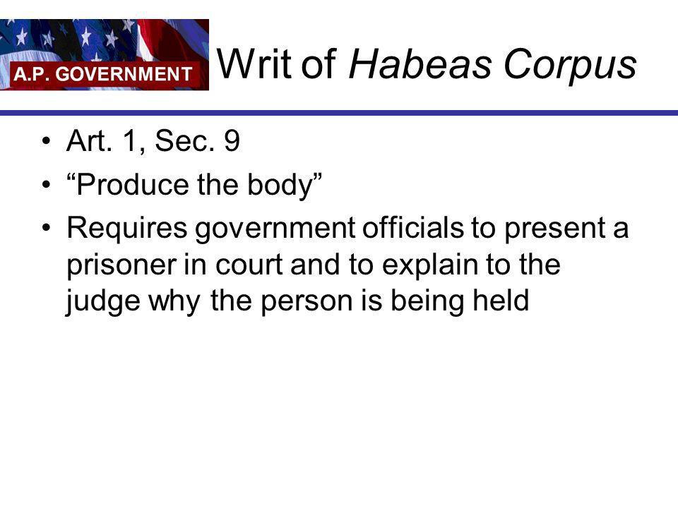 8 th Amendment The 8th Amendment prohibits cruel and unusual punishment.