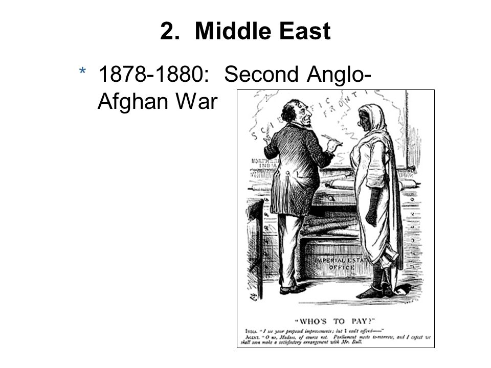 2. Middle East * 1878-1880: Second Anglo- Afghan War