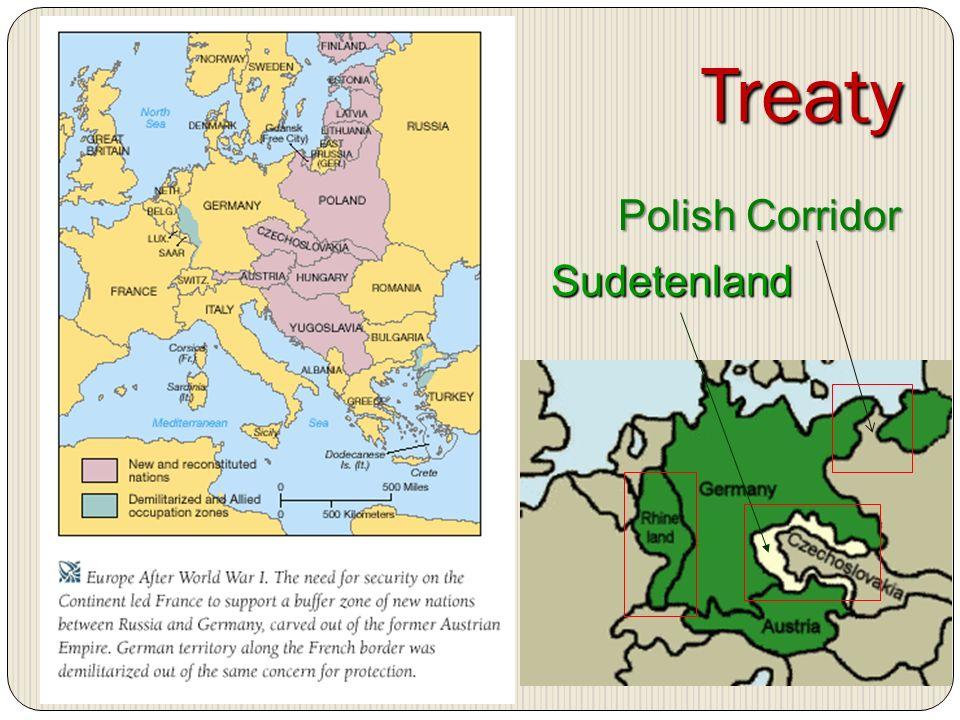 Treaty Sudetenland Polish Corridor
