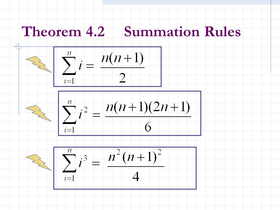 Example 2 Evaluate the summation Solution Examples