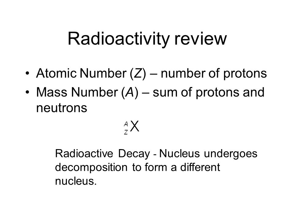 Unit 8 - Chpt 19 - Nuclear Chemistry Radioactive Decay Nuclear Transformations Stability of nucleus Uses of radiation Fission and Fusion Effects of radiation HW set1: Chpt 19 - pg.