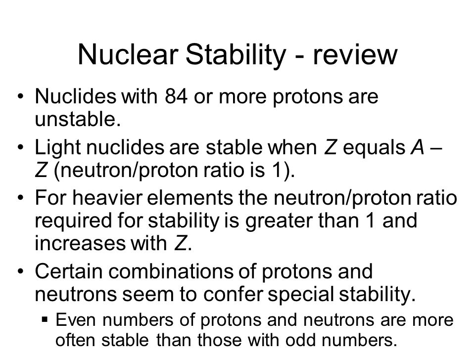 Radioactivity review Atomic Number (Z) – number of protons Mass Number (A) – sum of protons and neutrons Radioactive Decay - Nucleus undergoes decomposition to form a different nucleus.