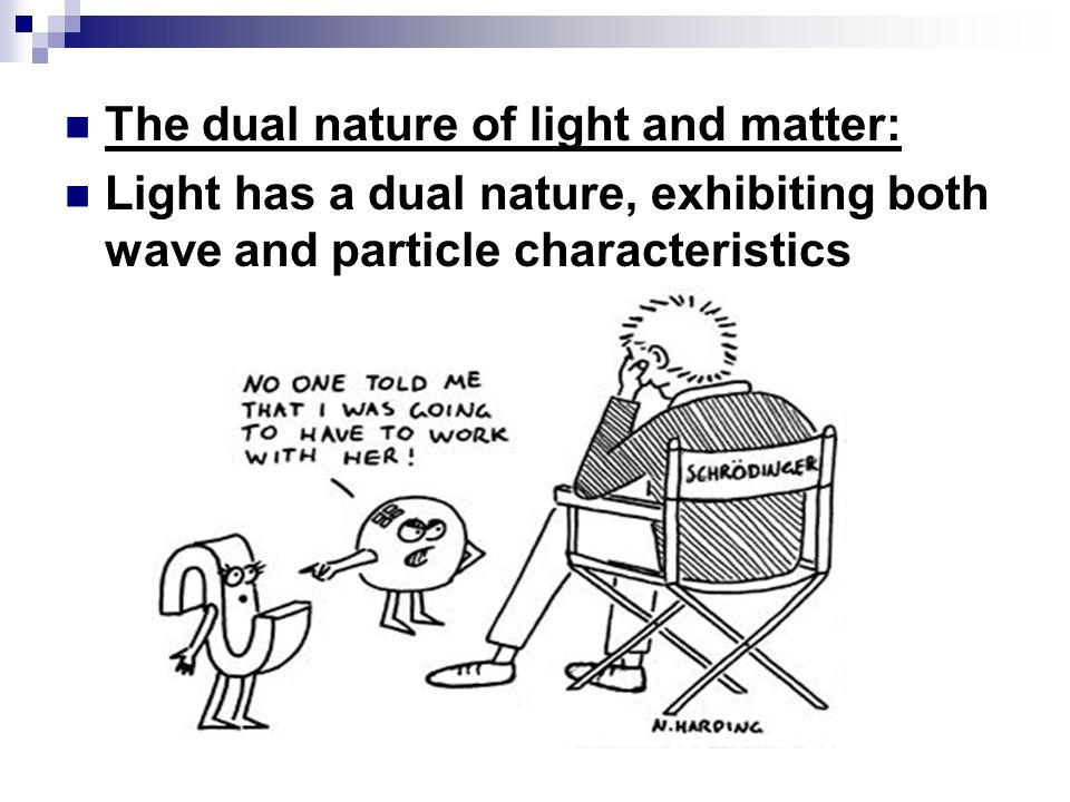 The dual nature of light and matter: Light has a dual nature, exhibiting both wave and particle characteristics
