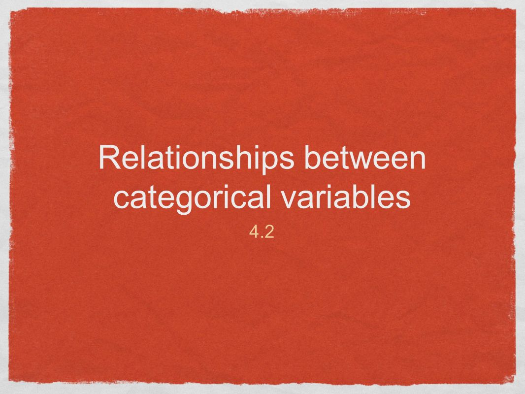 Relationships between categorical variables 4.2