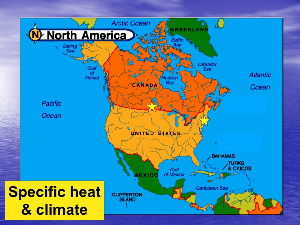 Specific heat H 2 O resists changes in temperature H 2 O resists changes in temperature –high specific heat –takes a lot to heat it up –takes a lot to cool it down H 2 O moderates temperatures on Earth H 2 O moderates temperatures on Earth