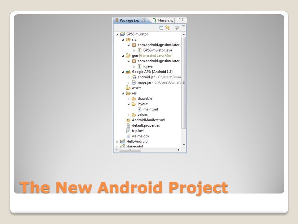 The New Android Project