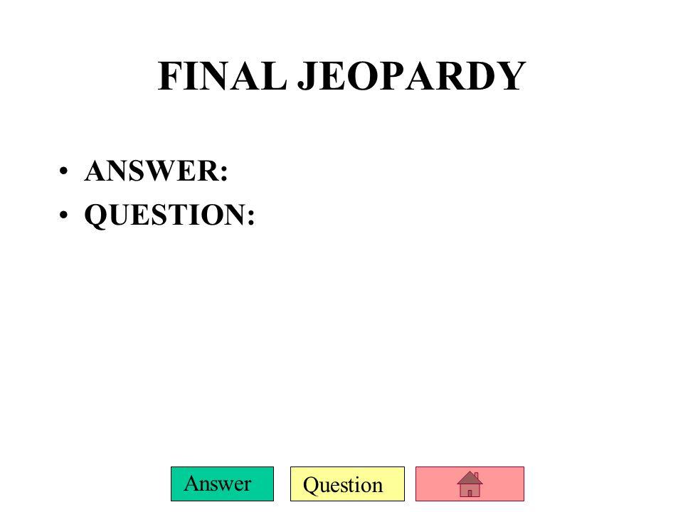 Question Answer E-500 ANSWER: QUESTION: