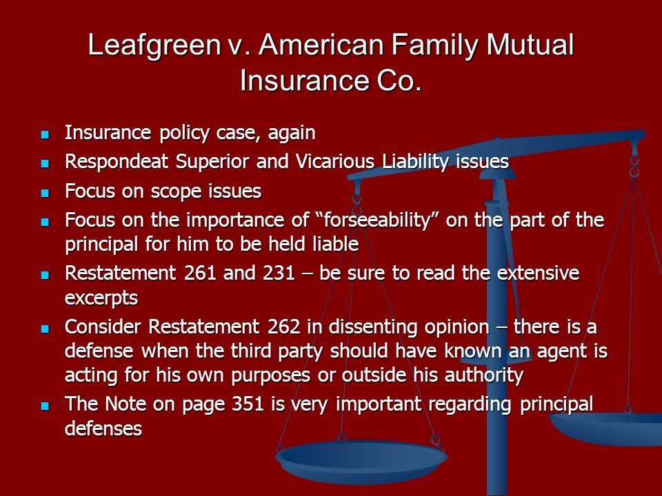 Leafgreen v. American Family Mutual Insurance Co.