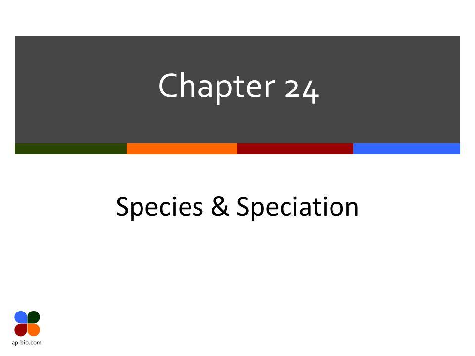 Chapter 24 Species & Speciation