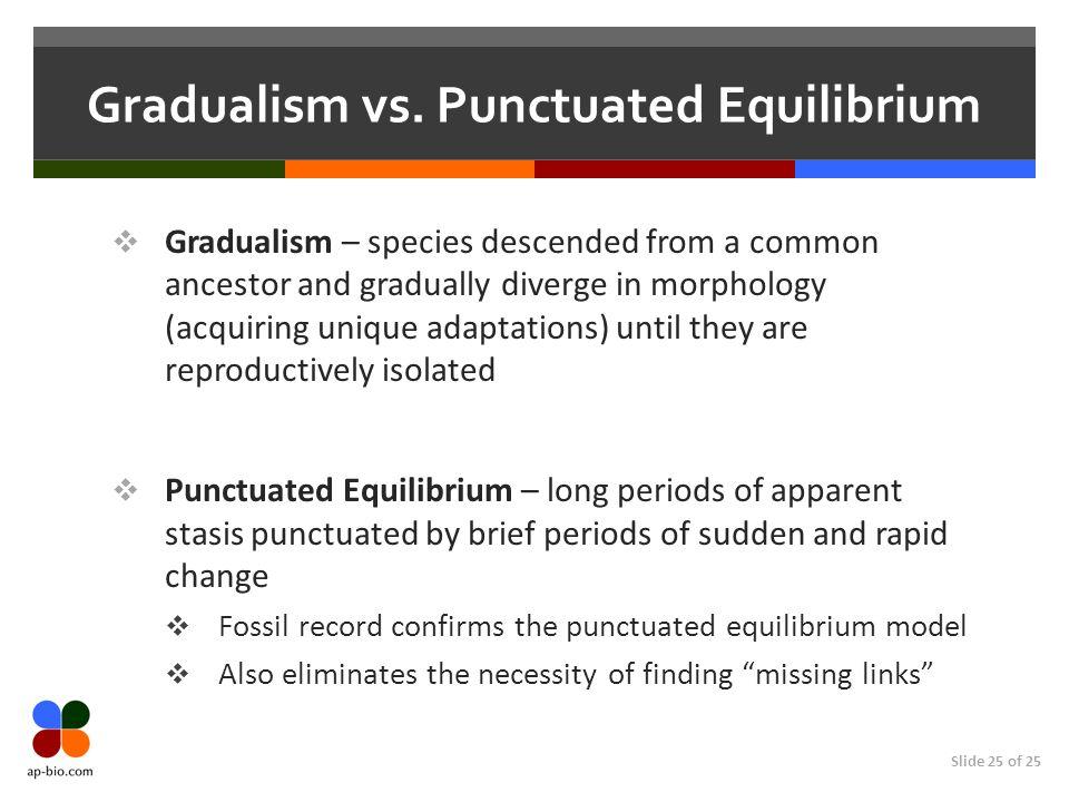 Slide 25 of 25 Gradualism vs.