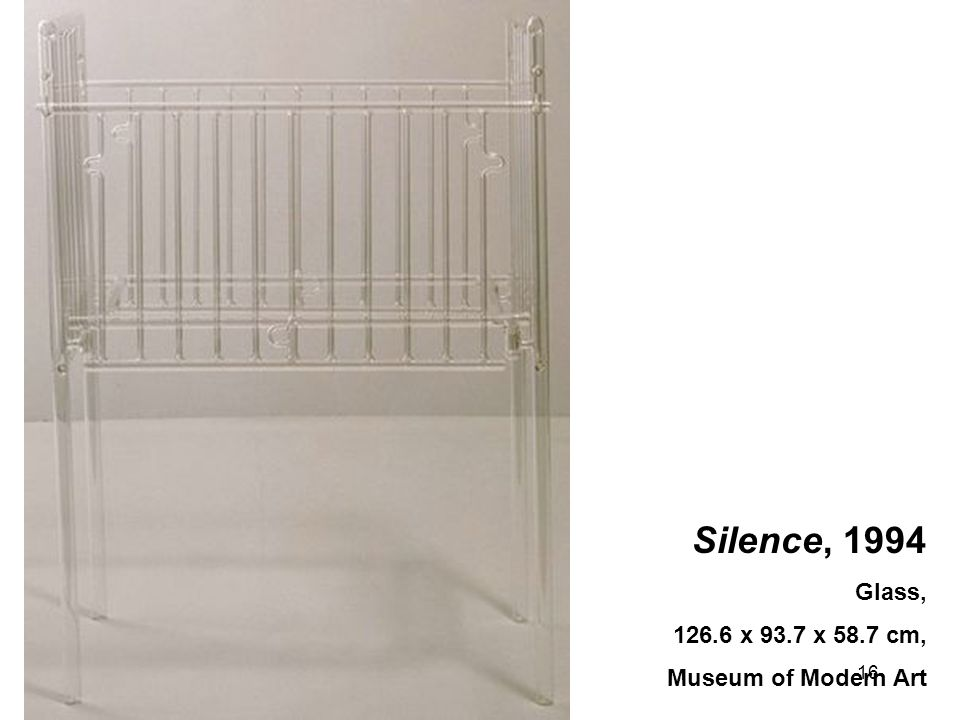 16 Silence, 1994 Glass, 126.6 x 93.7 x 58.7 cm, Museum of Modern Art
