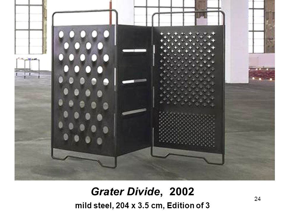 24 Grater Divide, 2002 mild steel, 204 x 3.5 cm, Edition of 3