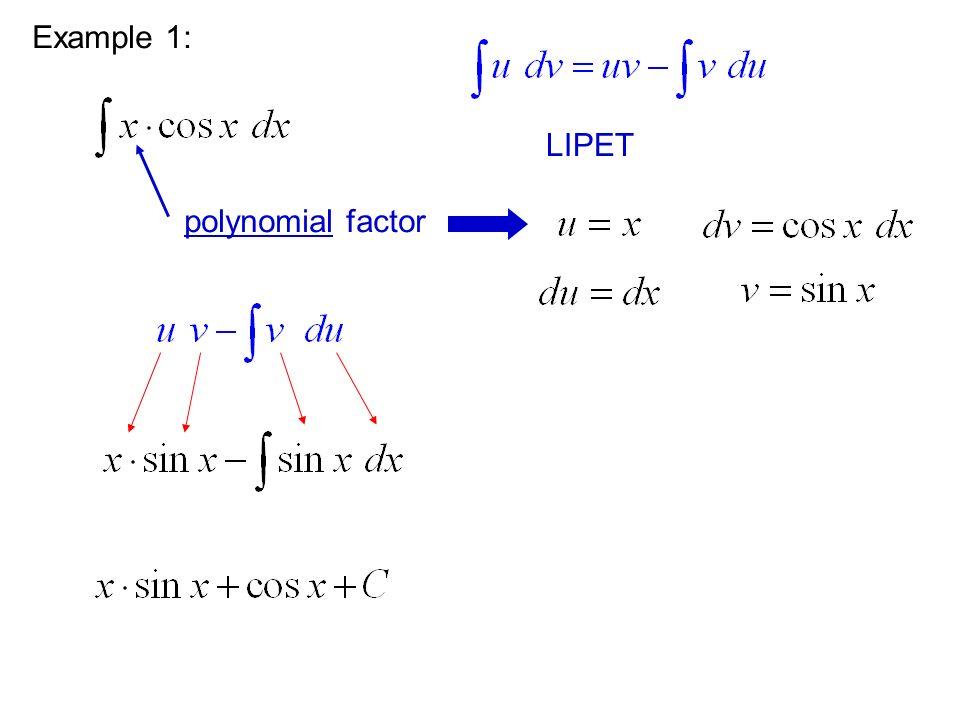 Example 1: polynomial factor LIPET