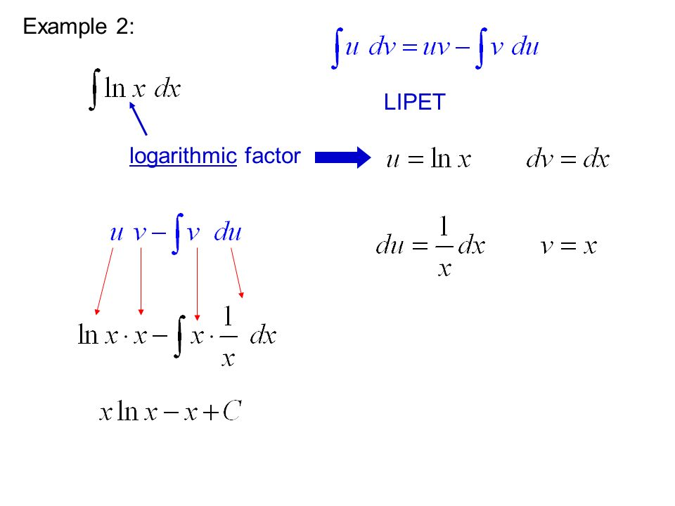 This is still a product, so we need to use integration by parts again. Example 3: LIPET