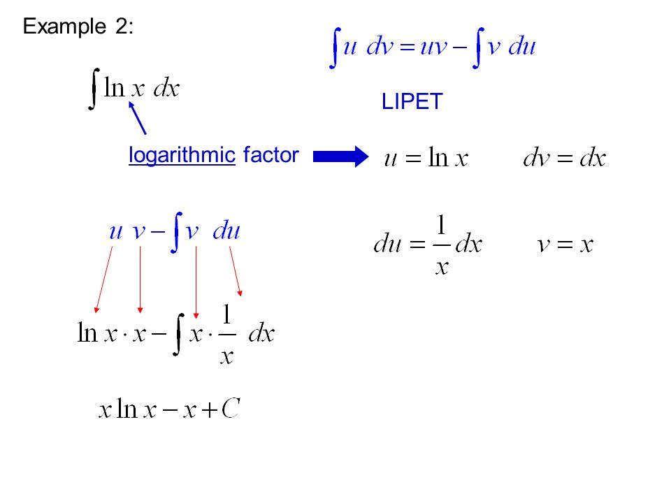 Example 2: logarithmic factor LIPET