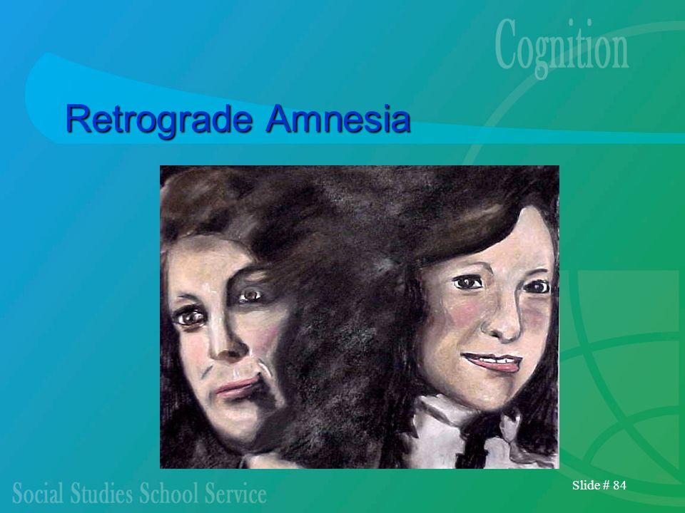 Slide # 84 Retrograde Amnesia